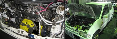 軽四自動車の改造